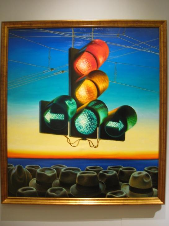 Semáforo, início do anos 90, óleo sobre tela, Aleksandre Petrov