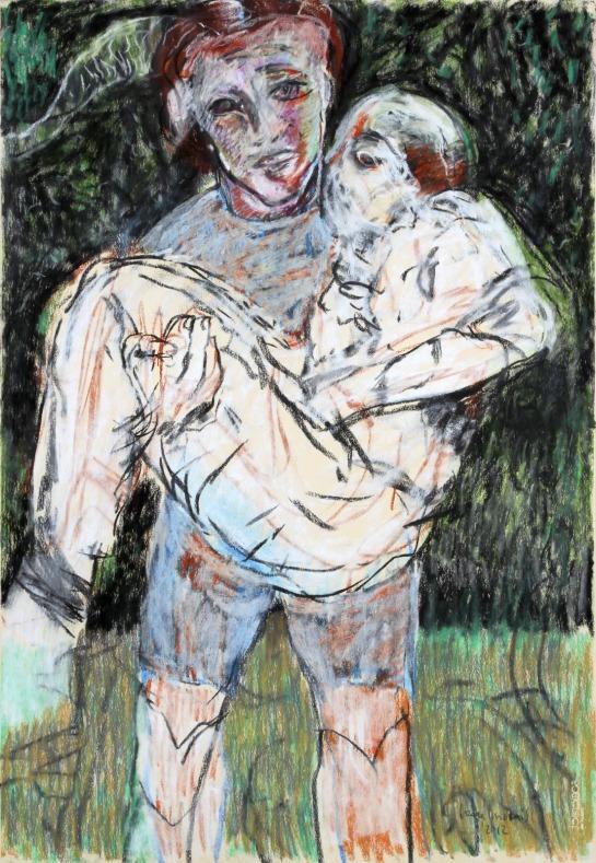 Série Sombras do Medo 2012 Pastel e Carvão sobre papel 111,3 x 75,8 cm