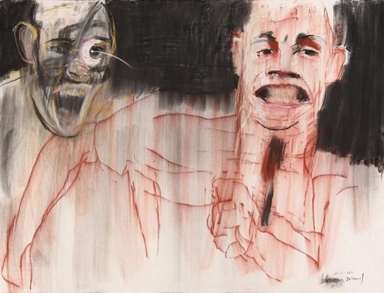 Série A caminhada do Medo VII 2011 Pastel e carvão s papel 102 x 152 cm