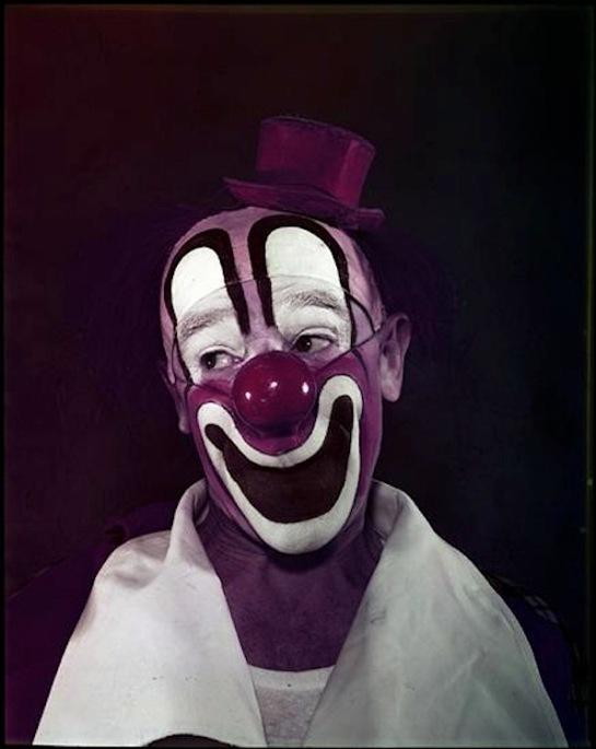 Stanley Kubrick ~ Clown, 1948