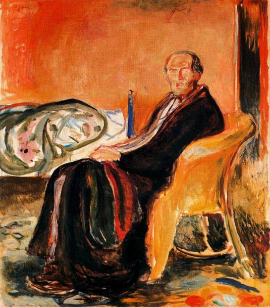 Edvard Munch Self-Portrait after Spanish Influenza, 1919