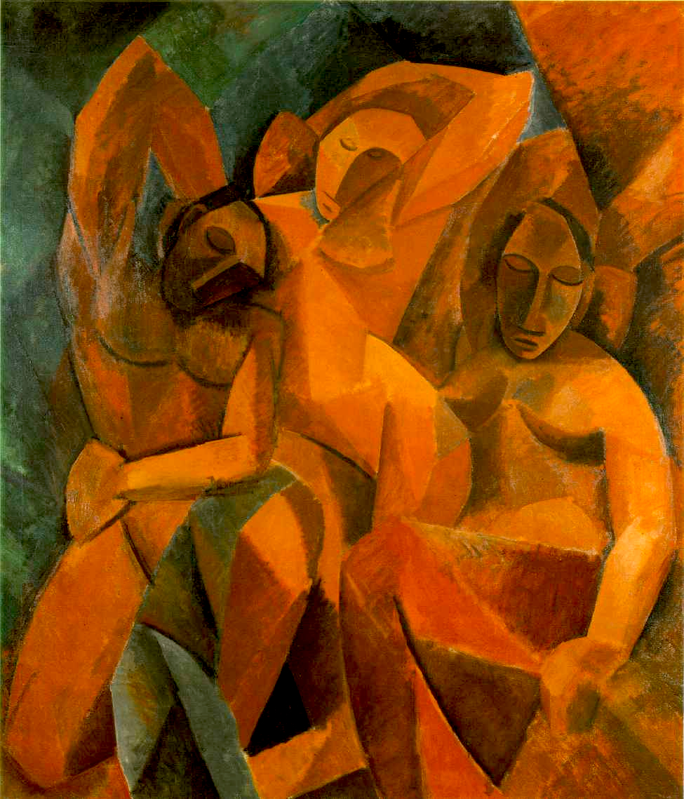 Picasso, Three women, autum 1907-1908, 78 3-4 x 70 1-8 in. 200 x 178 cm, The Hermitage Museum, St. Petersburg