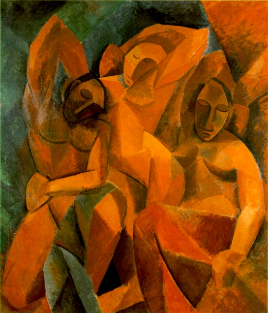 Picasso, Three women, autum 1907-1908, 78 3-4 x 70 1-8 in. 200 x 178 cm, The Hermitage Museum, St. Petersburg