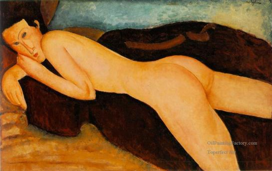 4-Nu couche de dos-Reclining Nude from the Back-modern-female-body-Amedeo-Clemente-Modigliani