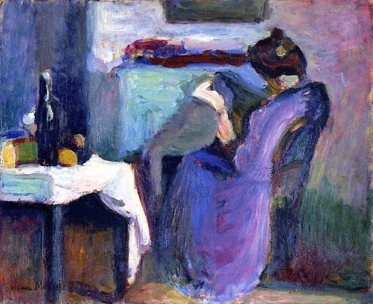 Reading Woman in Violet Dress, 1898 - Matisse