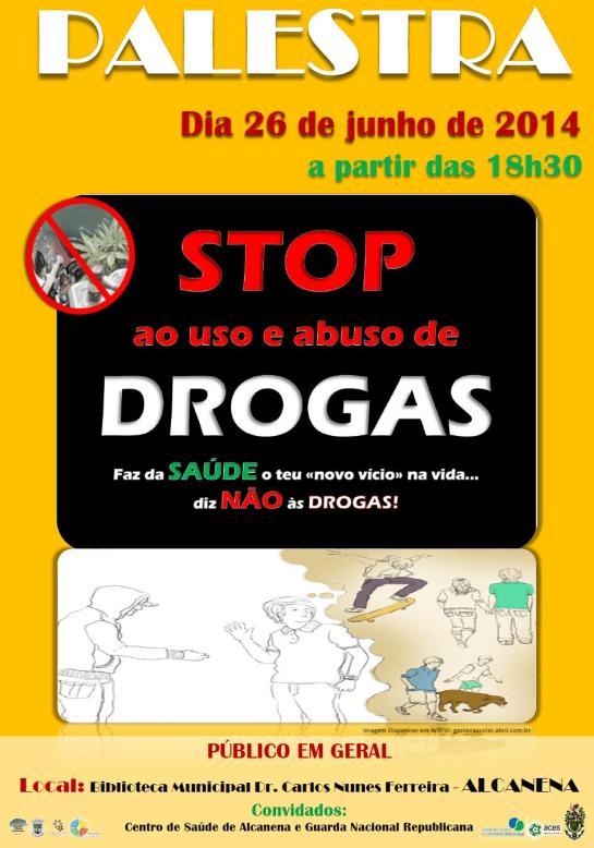 Cartaz_STOP ao use e abuso de DROGAS
