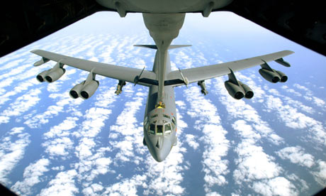 A US Air Force B-52 bomber