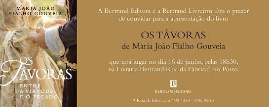 Literatura do livro os tvoras de maria joo fialho gouveia que ter lugar no dia 16 de junho pelas 18h30 na livraria bertrand rua da fbrica no porto fandeluxe Gallery